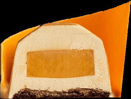 Карамельно абрикосовый кранч разрез сжатый
